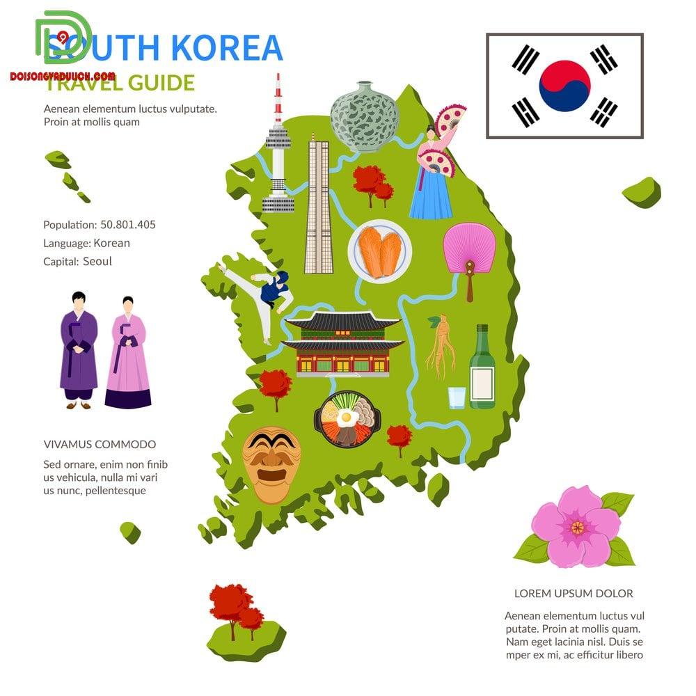 Bản đồ du lịch Hàn Quốc