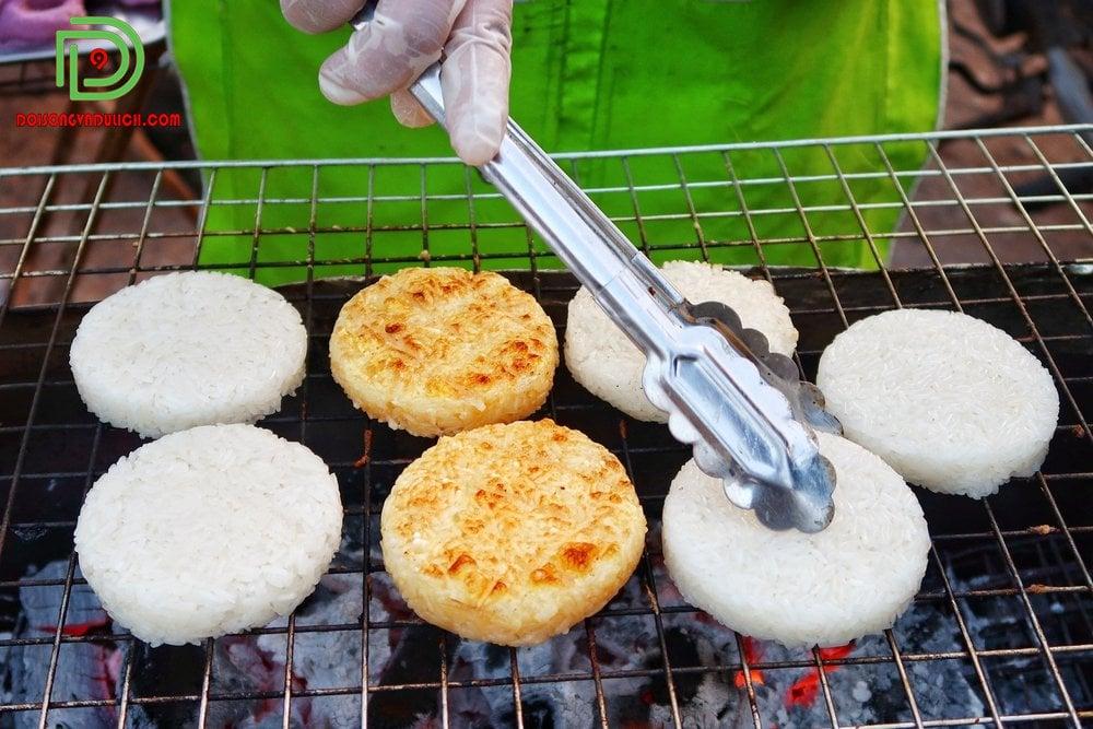 Bánh gạo nếp nướng Thái Lan