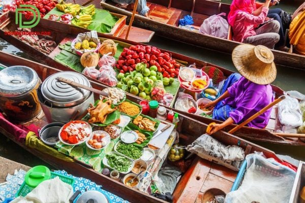 chợ nổi 4 miền Thái Lan