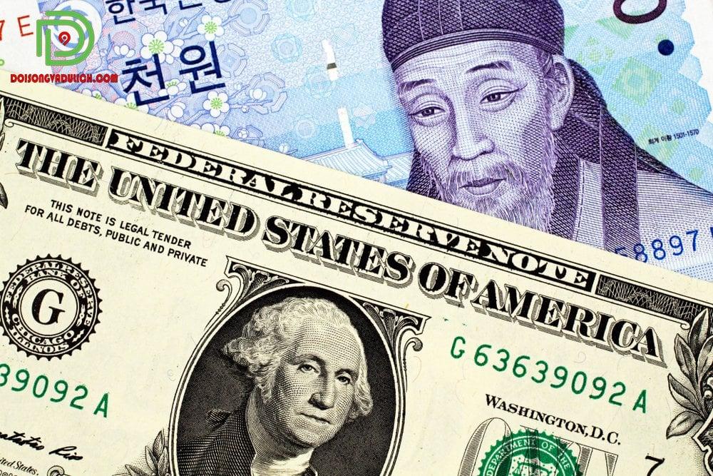 Tiền Hàn Quốc đổi sang tiền Usd