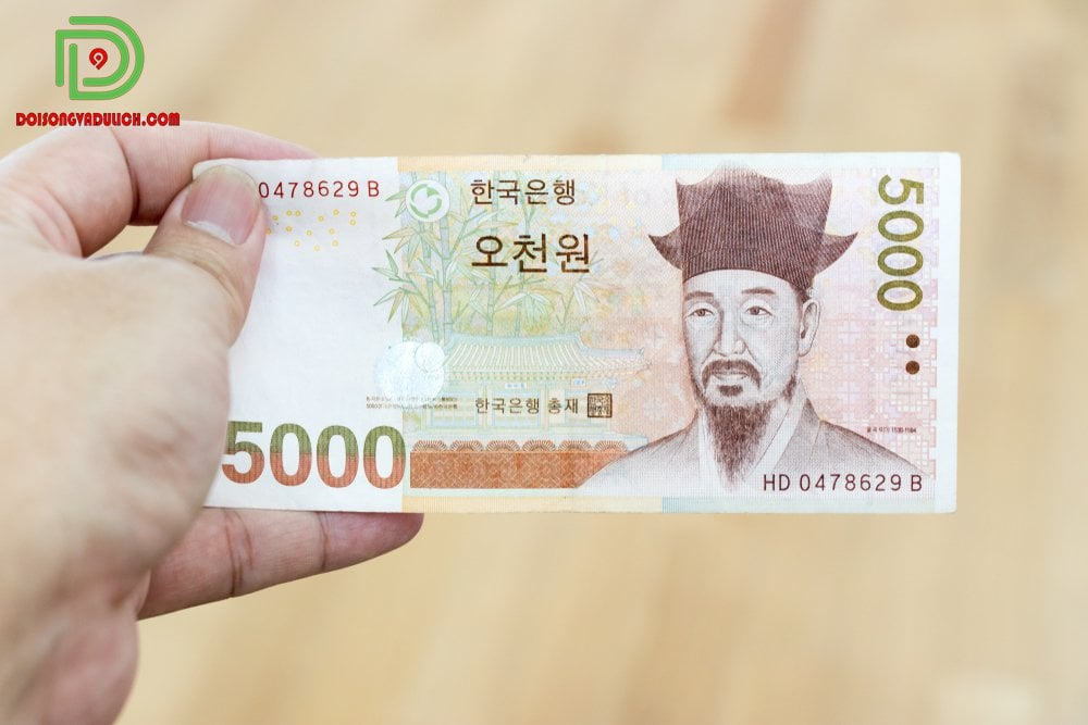 Tiền giấy 5000 won