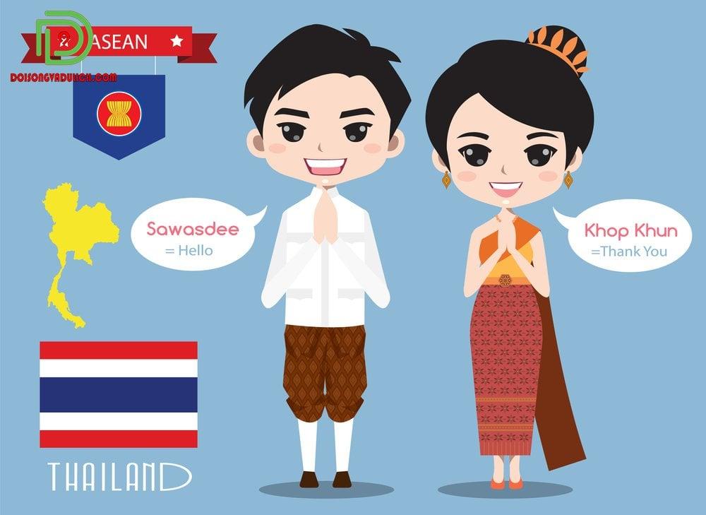 xin chào tiếng Thái