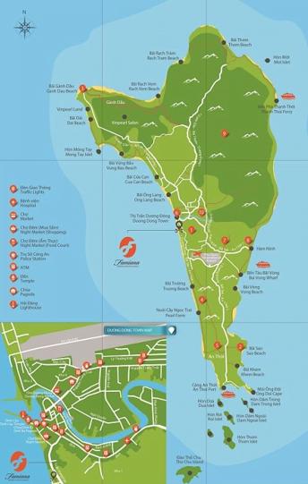 bản đồ du lịch Phú Quốc bằng đường thủy