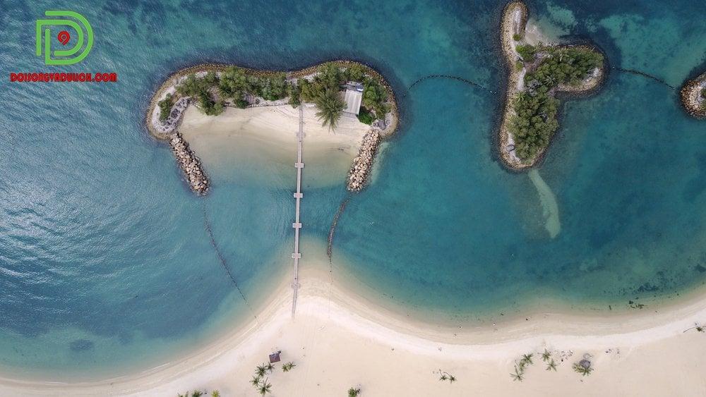 Đảo Sentosa nhìn từ trên cao
