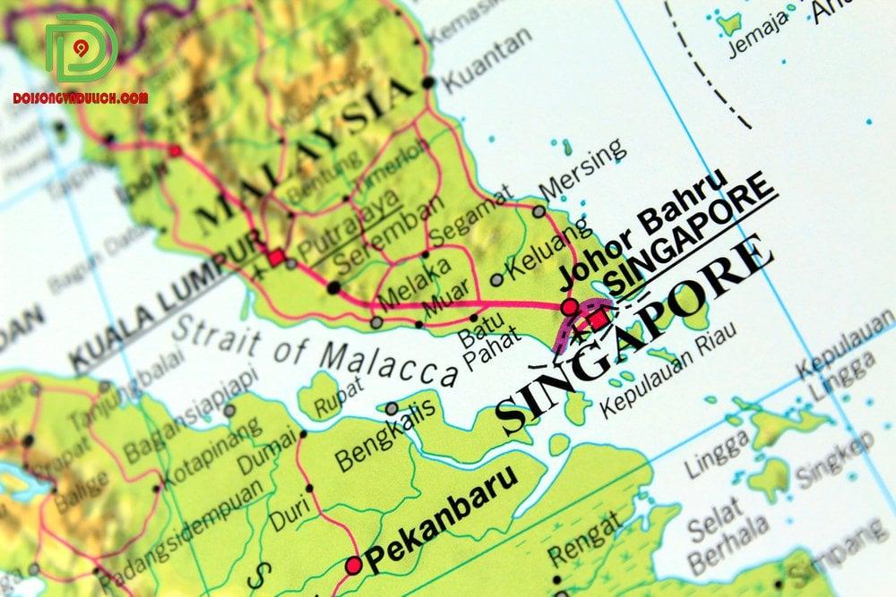Vị trí đất nước Singapore
